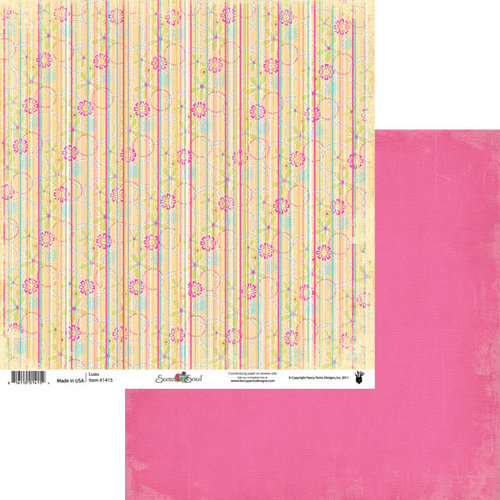 Fancy Pants Designs - Summer Soul Collection - 12 x 12 Double Sided Paper - Luau