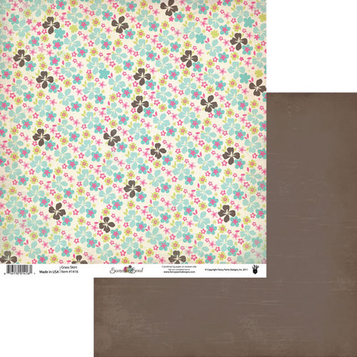 Fancy Pants Designs - Summer Soul Collection - 12 x 12 Double Sided Paper - Grass Skirt