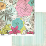 Fancy Pants Designs - Summer Soul Collection - 12 x 12 Double Sided Paper - Coconut Tree