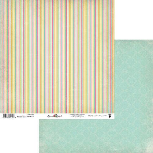 Fancy Pants Designs - Summer Soul Collection - 12 x 12 Double Sided Paper - Sandcastle