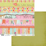 Fancy Pants Designs - Summer Soul Collection - 12 x 12 Double Sided Paper - Strips