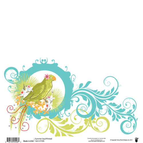 Fancy Pants Designs - Summer Soul Collection - 12 x 12 Printed Transparent Overlays