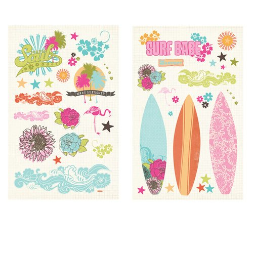 Fancy Pants Designs - Summer Soul Collection - Chipboard Stickers - Pieces