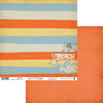 Fancy Pants Designs - Wave Searcher Collection - 12 x 12 Double Sided Paper - Relaxation