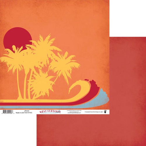 Fancy Pants Designs - Wave Searcher Collection - 12 x 12 Double Sided Paper - Breeze