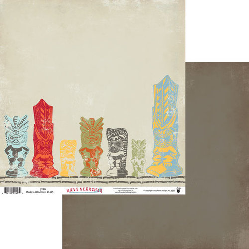 Fancy Pants Designs - Wave Searcher Collection - 12 x 12 Double Sided Paper - Tikis