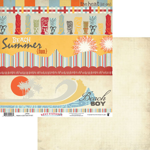 Fancy Pants Designs - Wave Searcher Collection - 12 x 12 Double Sided Paper - Strips