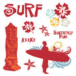 Fancy Pants Designs - Wave Searcher Collection - Glitter Cuts Transparencies