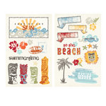 Fancy Pants Designs - Wave Searcher Collection - Chipboard Stickers - Pieces