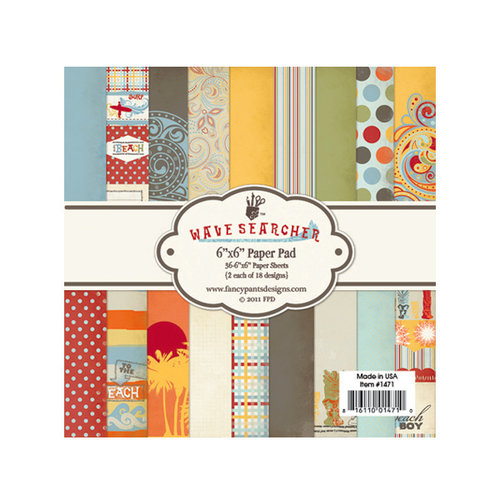 Fancy Pants Designs - Wave Searcher Collection - 6 x 6 Paper Pad