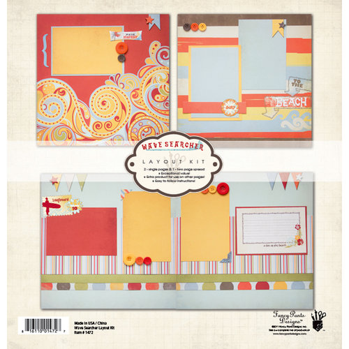 Fancy Pants Designs - Wave Searcher Collection - 12 x 12 Layout Kit