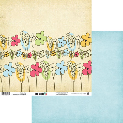 Fancy Pants Designs - Be You Collection - 12 x 12 Double Sided Paper - Gardening