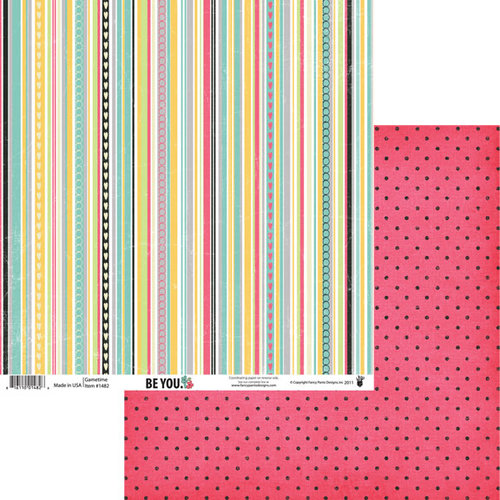 Fancy Pants Designs - Be You Collection - 12 x 12 Double Sided Paper - Gametime