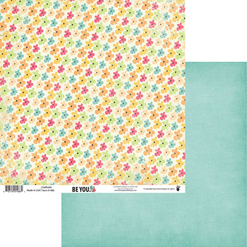 Fancy Pants Designs - Be You Collection - 12 x 12 Double Sided Paper - Daffodils