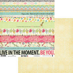 Fancy Pants Designs - Be You Collection - 12 x 12 Double Sided Paper - Strips