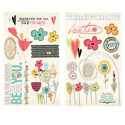 Fancy Pants Designs - Be You Collection - Chipboard Stickers - Pieces