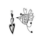 Fancy Pants Designs - Be You Collection - Clear Acrylic Stamps - Love Bird