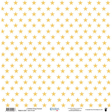Fancy Pants Designs - Childish Things Collection - 12 x 12 Flocked Transparent Overlays