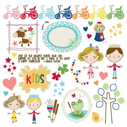 Fancy Pants Designs - Childish Things Collection - Rub Ons
