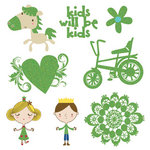 Fancy Pants Designs - Childish Things Collection - Glitter Cuts Transparencies