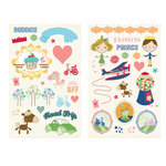 Fancy Pants Designs - Childish Things Collection - Chipboard Stickers - Pieces