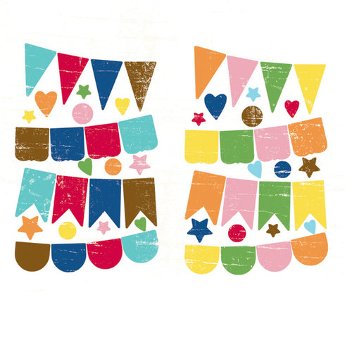 Fancy Pants Designs - Childish Things Collection - Chipboard Stickers - Banners