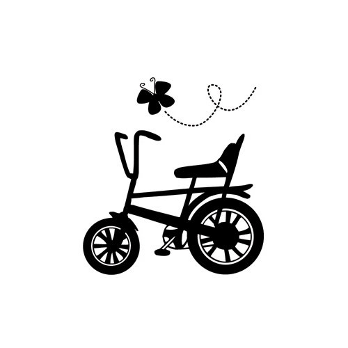 Fancy Pants Designs - Childish Things Collection - Clear Acrylic Stamps - Bicycle
