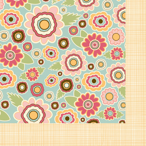 Fancy Pants Designs - Its Time for Spring Collection - 12 x 12 Double Sided Paper - Spring Floral
