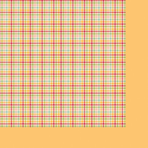 Fancy Pants Designs - Its Time for Spring Collection - 12 x 12 Double Sided Paper - Gingham Dress