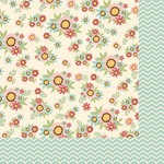 Fancy Pants Designs - Its Time for Spring Collection - 12 x 12 Double Sided Paper - Flower Patch