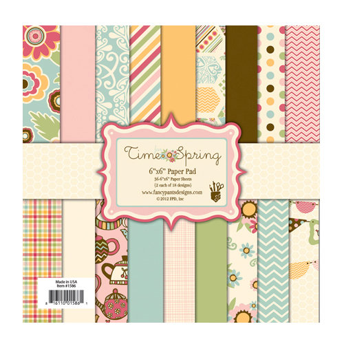 Fancy Pants Designs - Its Time for Spring Collection - 6 x 6 Paper Pad
