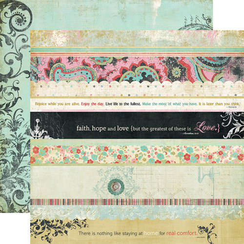 Fancy Pants Designs - Road Show Collection - 12 x 12 Double Sided Paper - Strips