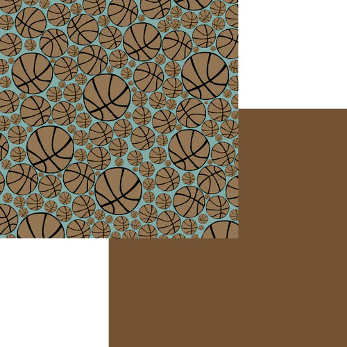 Fancy Pants Designs - Little Sport Collection - 12 x 12 Double Sided Paper - Basketball