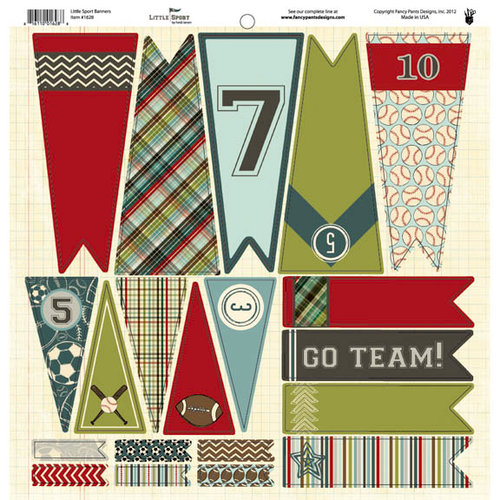Fancy Pants Designs - Little Sport Collection - 12 x 12 Cardstock Die Cuts - Banner