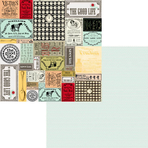 Fancy Pants Designs - The Good Life Collection - 12 x 12 Double Sided Paper - Labeled