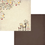 Fancy Pants Designs - Home for Christmas Collection - 12 x 12 Double Sided Paper - Reindeer