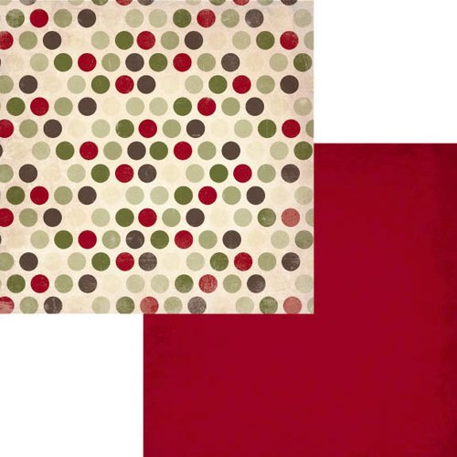 Fancy Pants Designs - Home for Christmas Collection - 12 x 12 Double Sided Paper - Cheer