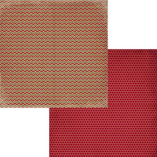 Fancy Pants Designs - Home for Christmas Collection - 12 x 12 Double Sided Paper - Pine