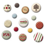 Fancy Pants Designs - Home for Christmas Collection - Mingled Brads