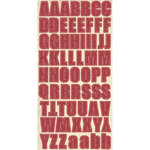 Fancy Pants Designs - Home for Christmas Collection - Chipboard Stickers with Glitter Accents - Alphabet