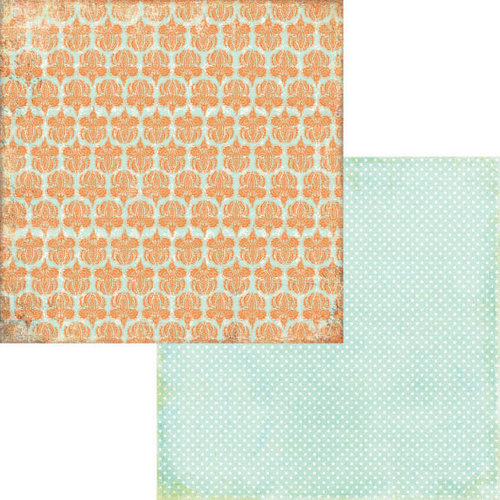 Fancy Pants Designs - Hopscotch Collection - 12 x 12 Double Sided Paper - Tangerine