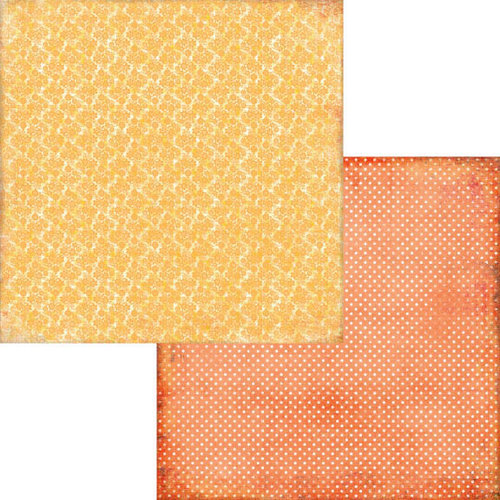 Fancy Pants Designs - Hopscotch Collection - 12 x 12 Double Sided Paper - Butternut