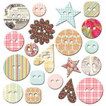 Fancy Pants Designs - Hopscotch Collection - Mingled Buttons
