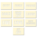 Fancy Pants Designs - Artist Edition Collection - Stencil Cards - Life
