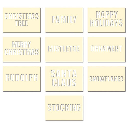 Fancy Pants Designs - Artist Edition Collection - Stencil Cards - Christmas