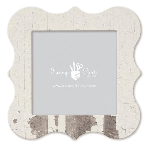 Fancy Pants Designs - 12 x 12 Frame - Bracket - White Paint Wash