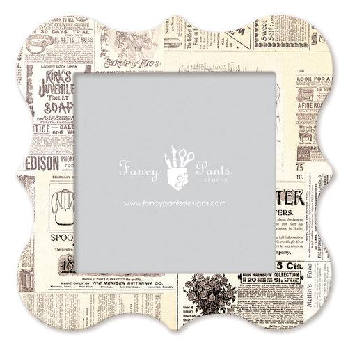 Fancy Pants Designs - 12 x 12 Frame - Bracket - Newsprint