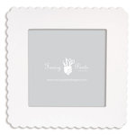 Fancy Pants Designs - 12 x 12 Frame - Scallop - Naked White