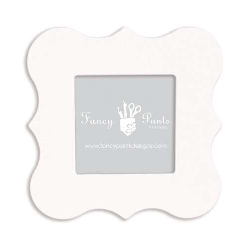 Fancy Pants Designs - 6 x 6 Frame - Bracket - Naked White
