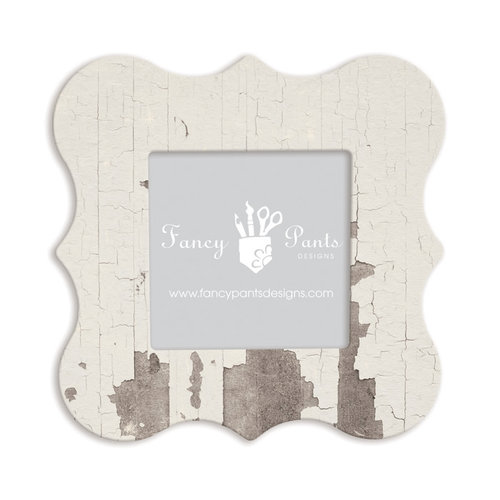 Fancy Pants Designs - 6 x 6 Frame - Bracket - White Paint Wash